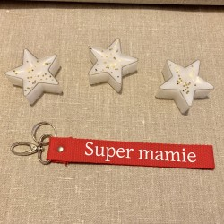"PORTE CLES ""SUPER MAMIE""..."